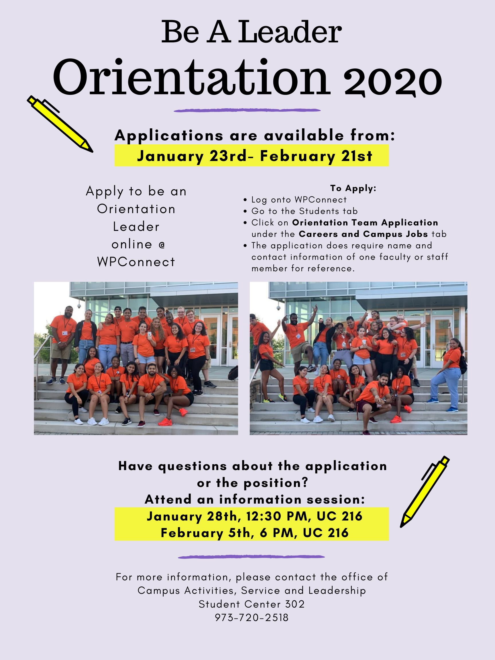 Orientation 2020 application