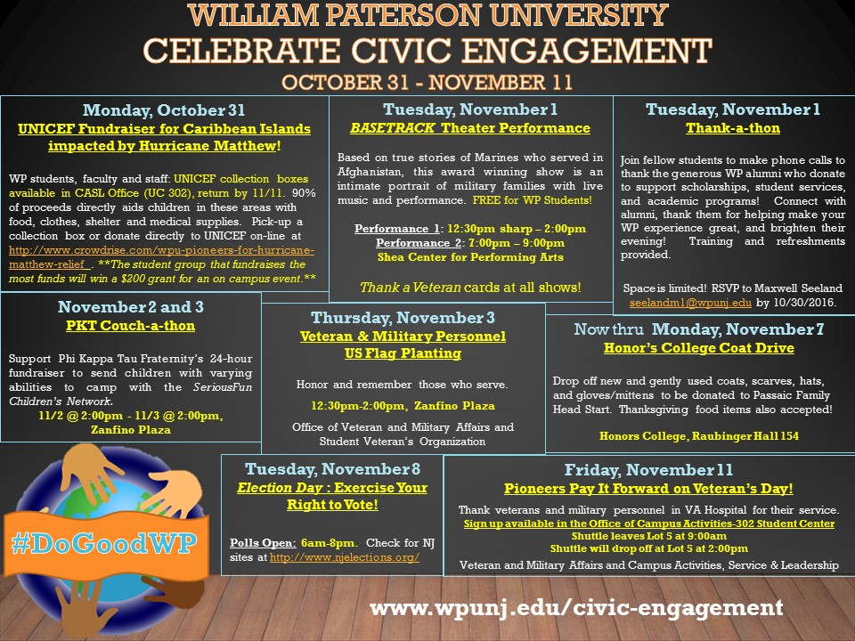 Civic Engagement Week Flyer 2016