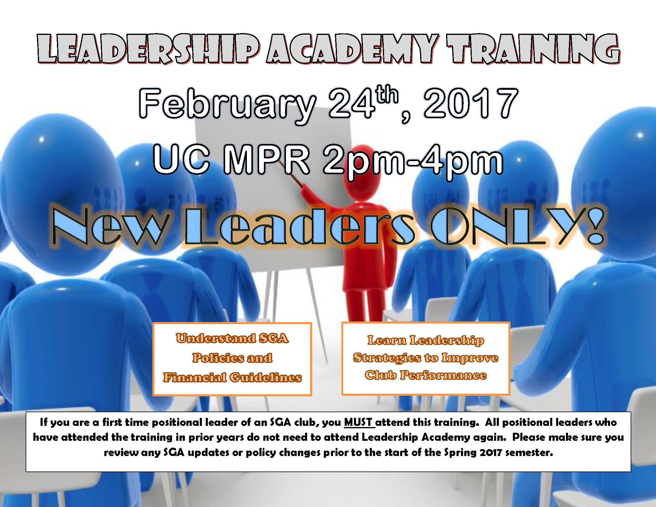Leadership Academy Flier - February 24, 2017