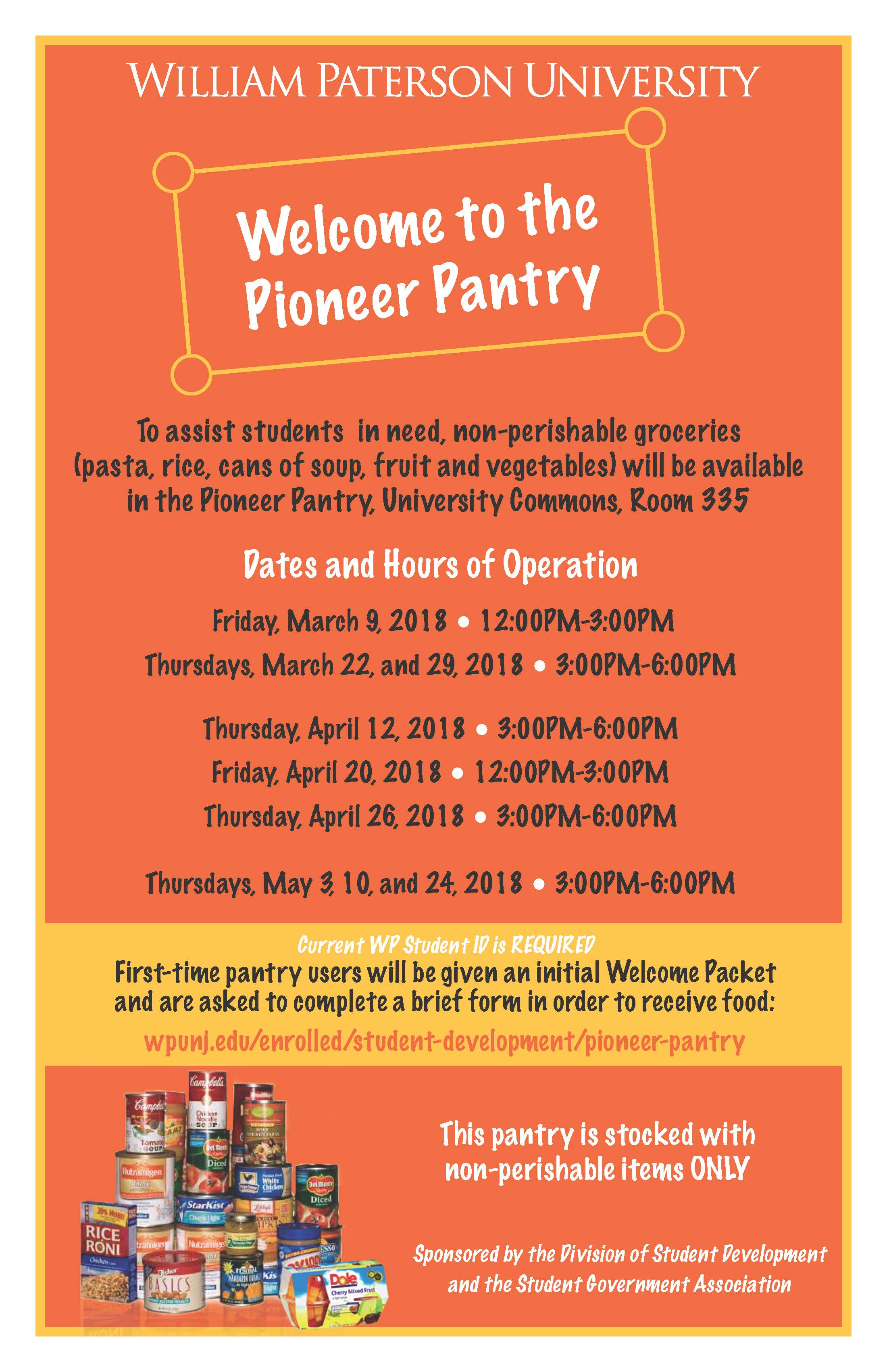 Pioneer Pantry March to May