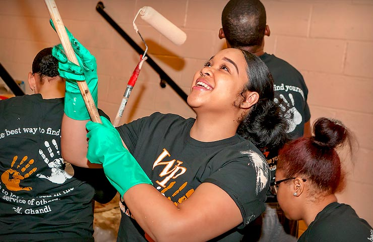 WP students participate in National MLK Day of Service