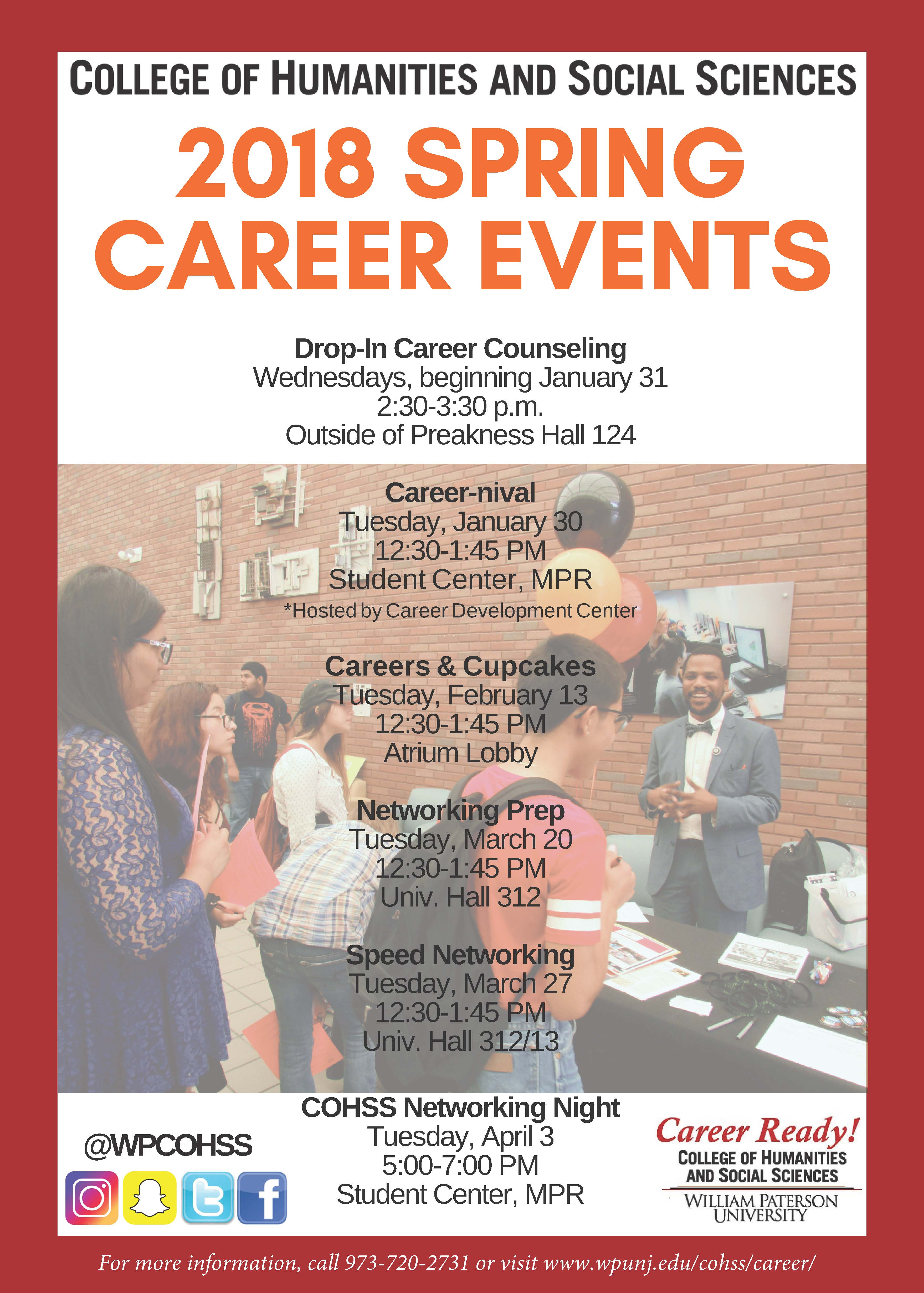 2018 Spring Career Events