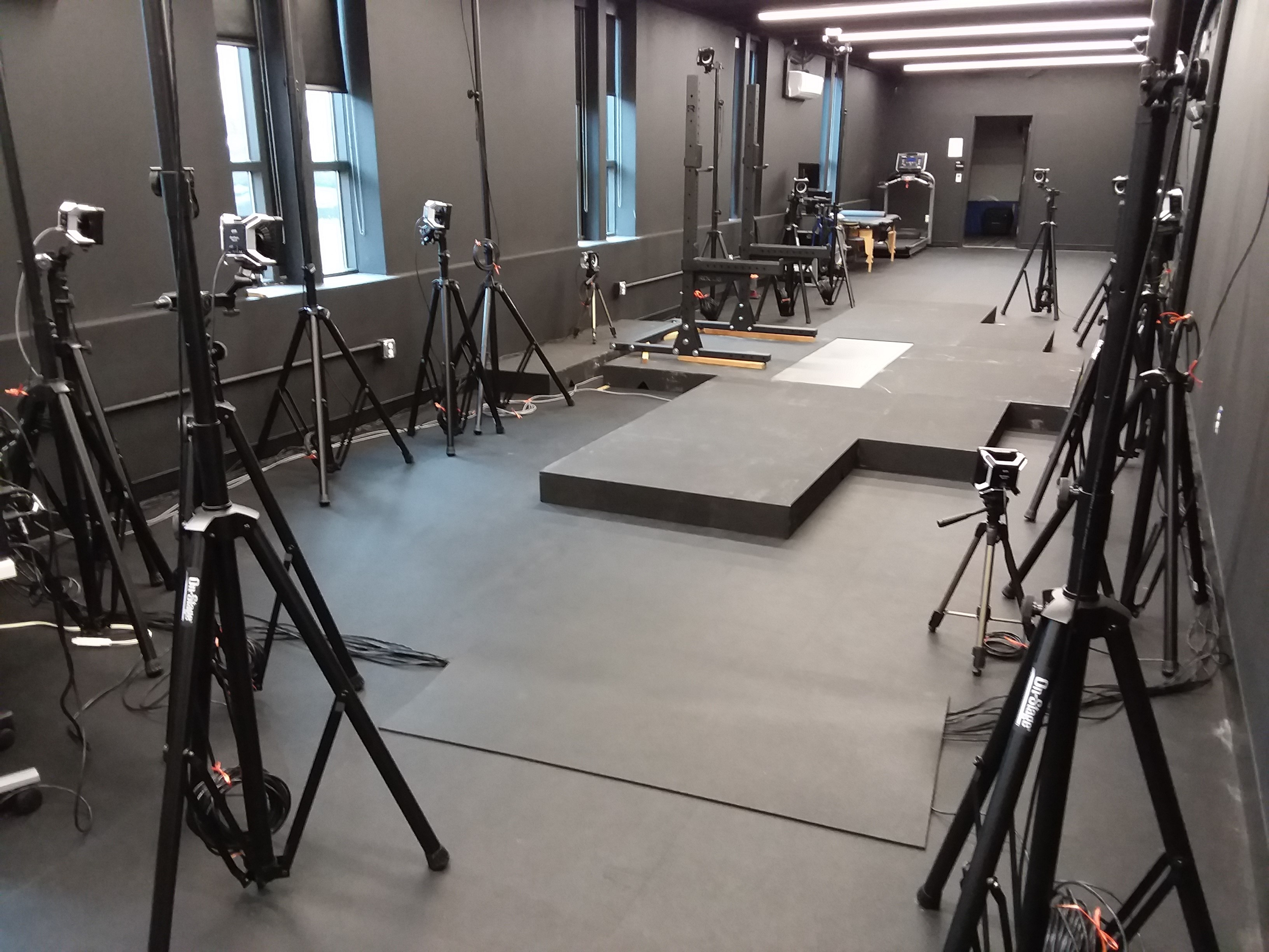 Human Motion Lab - cameras and force plates