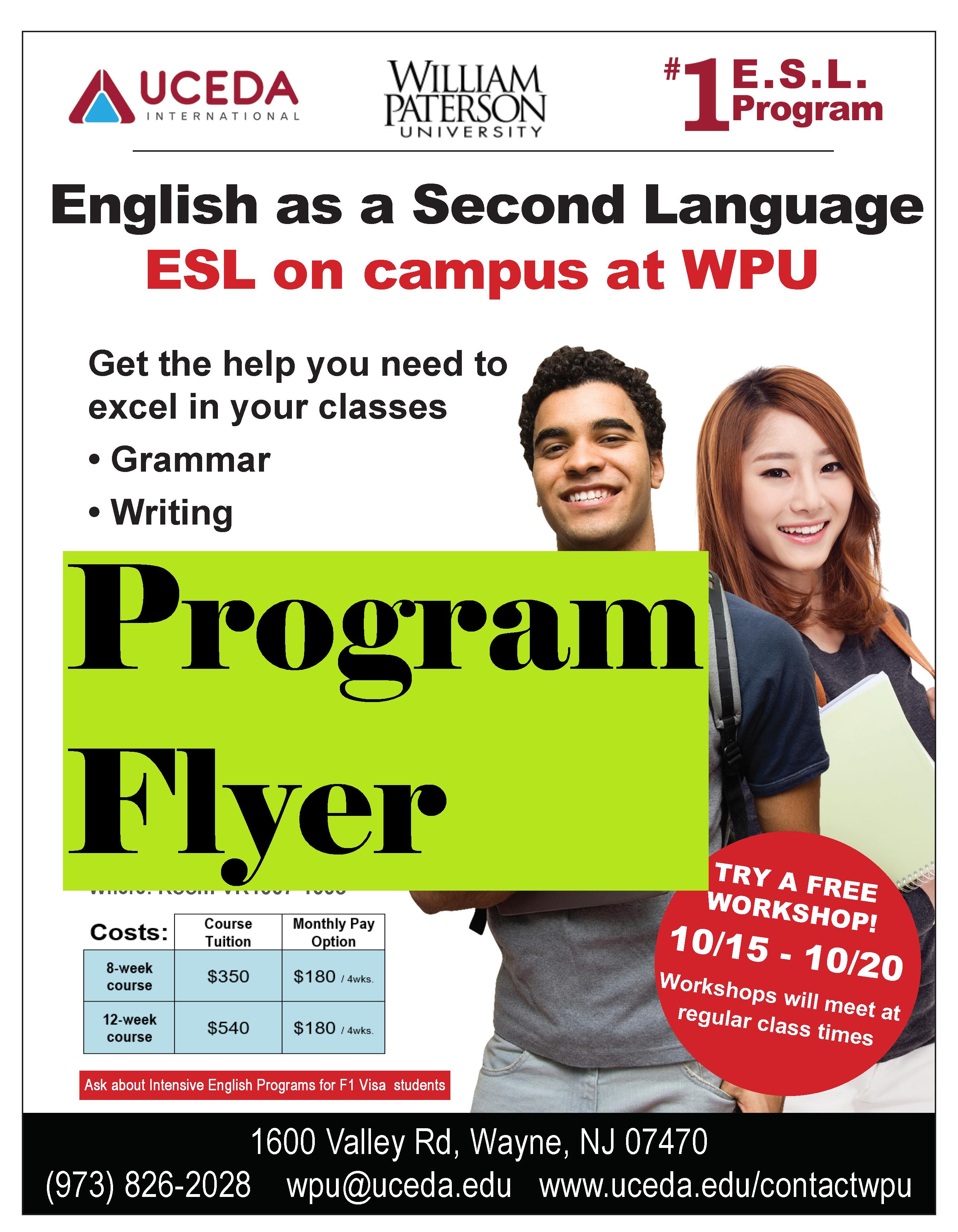 Esl Workshops William Paterson University