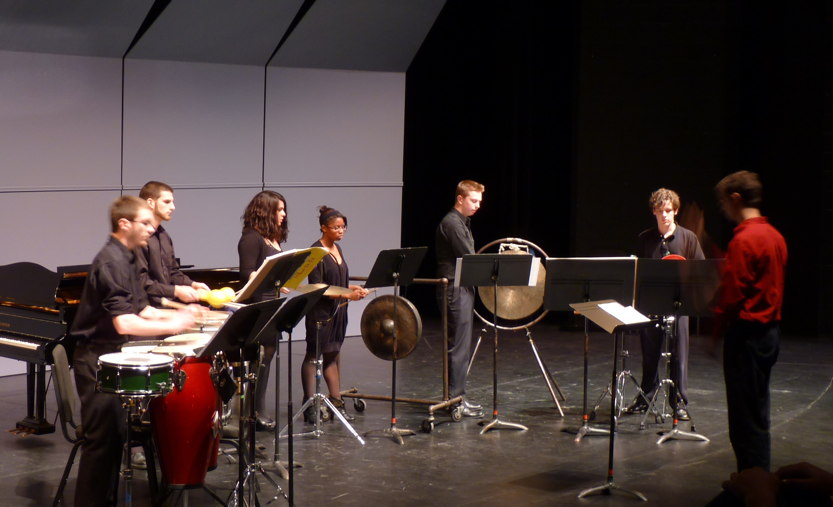 Student percussion group, conducted by Dr. Payton MacDonald