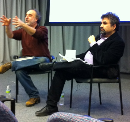 Author/critic Fred Goodman with Prof.  Steve Leeds  February 2011.
