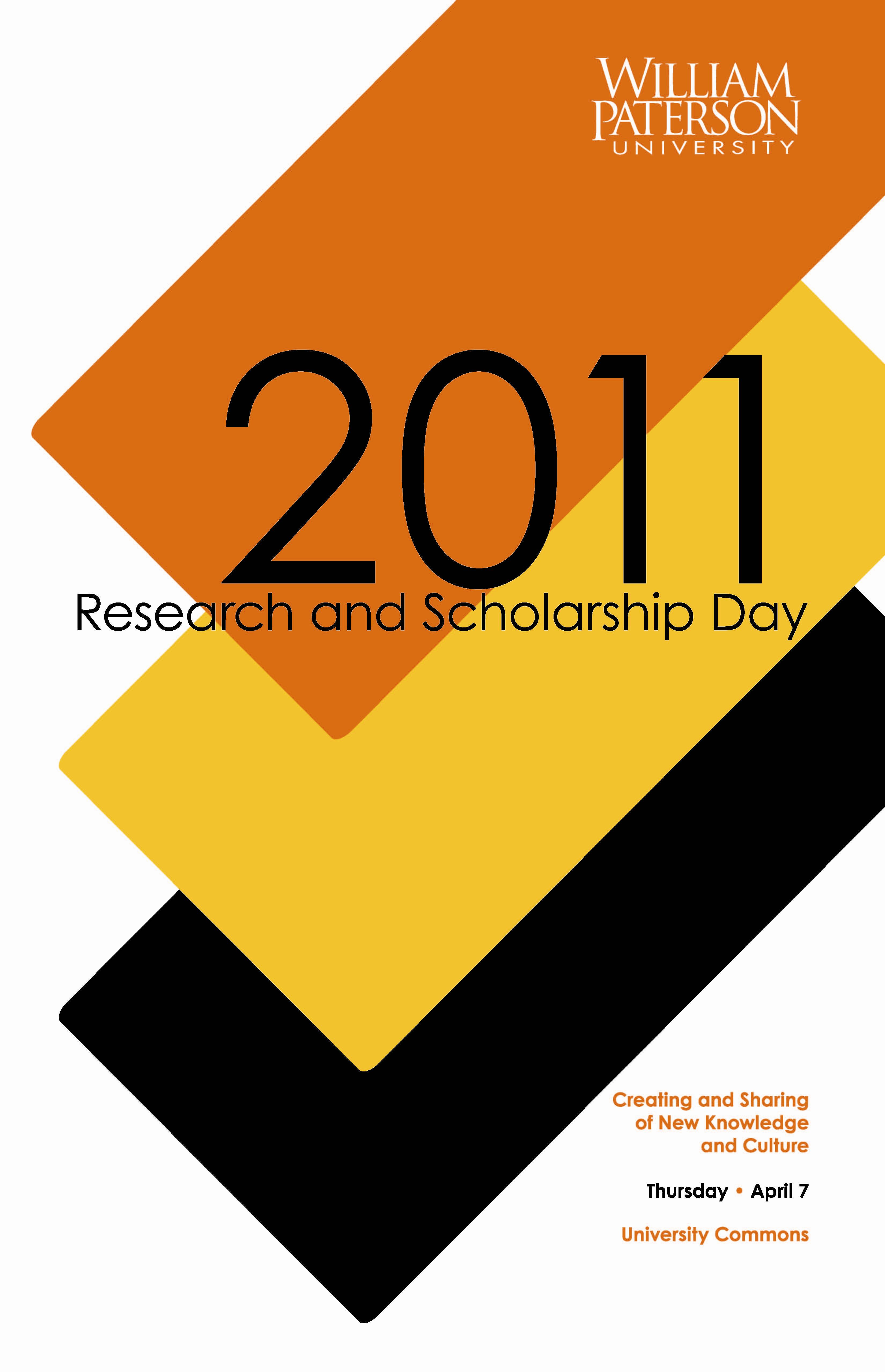 University Research and Scholarship Day 2011 Poster