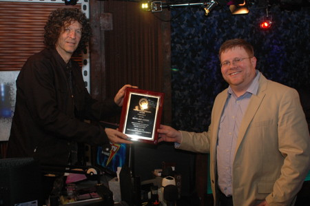 Bravery in Radio award to Howard Stern and Robin is joint effort of WPSC 88.7 and the Music Management undergraduate PR class