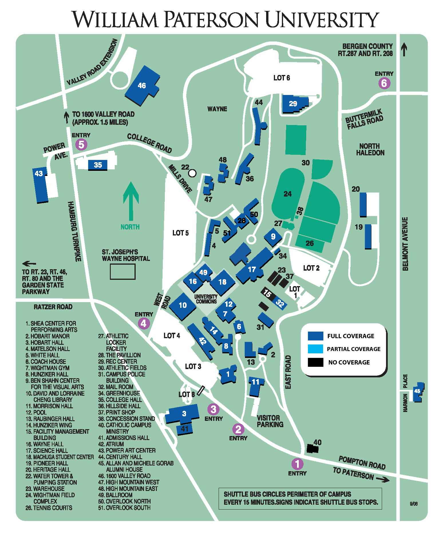Coverage Areas   William Paterson University