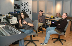 Sound Engineering Arts students