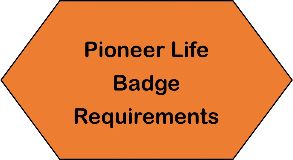 WP Pioneer Life Badge Requirements