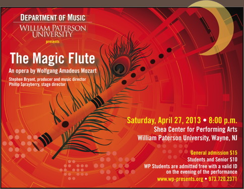 Mozart's The Magic Flute at William Paterson