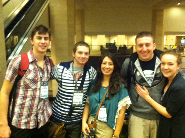 William Paterson Music Management students at the 2013 NAMM show in Anaheim, California