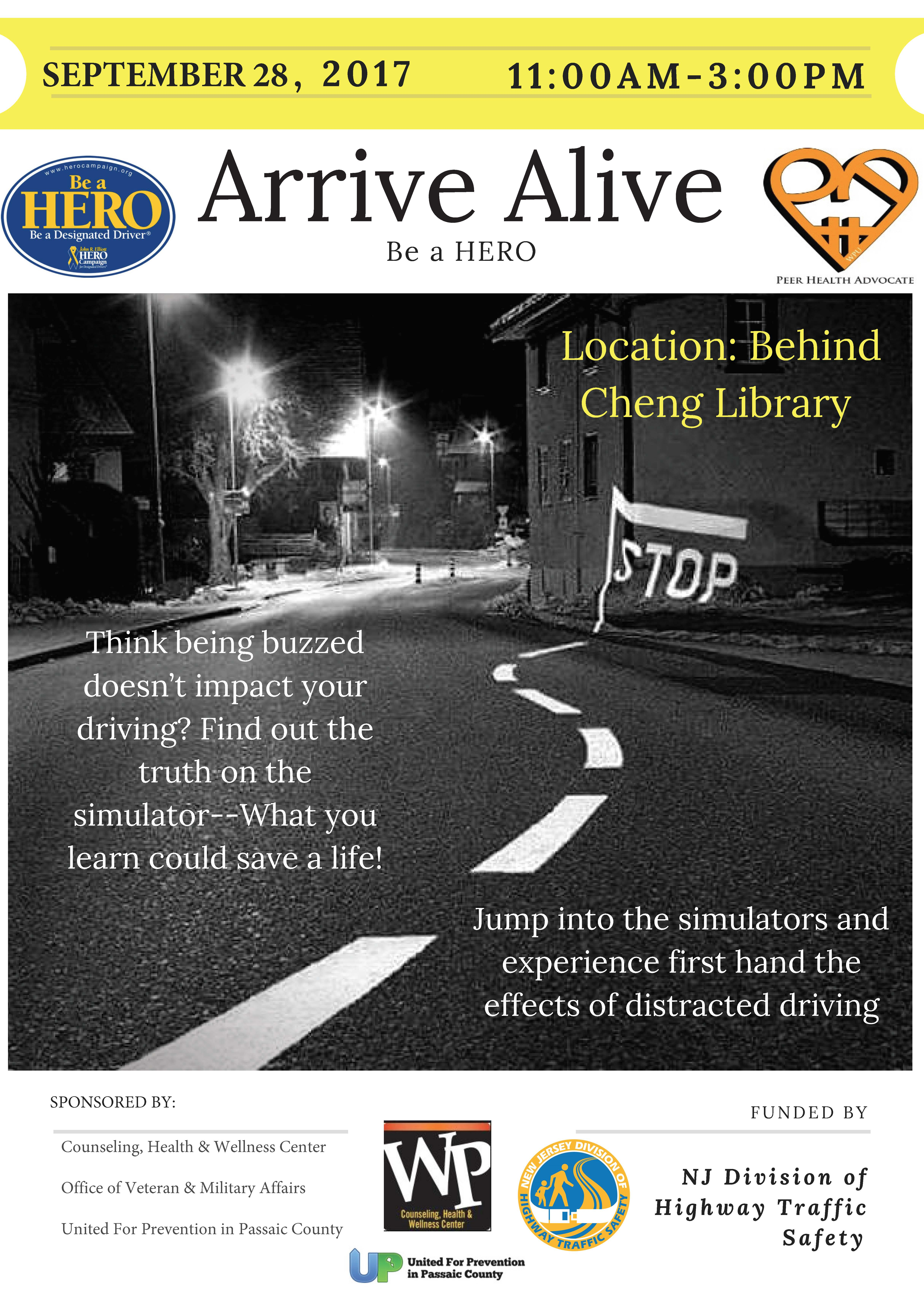 Arrive Alive Flyer FA17