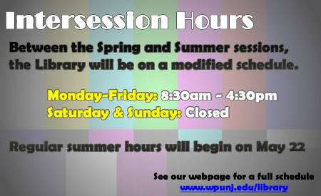 Spring Intersession Hours
