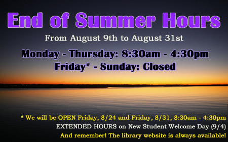 End of Summer Hours